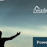 LeadingAge Michigan: Power of Purpose. Man with arms outstretched towards the dawn.