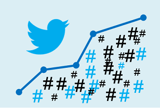 Blue Twitter trending graph