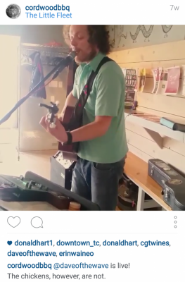 cordwoodbbq Instagram @daveofthewave is live! The chickens, however, are not.